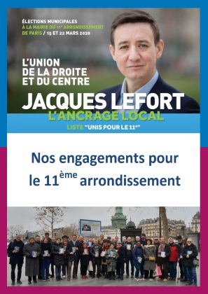 Programme Unis pour Paris 11e municipales 2020